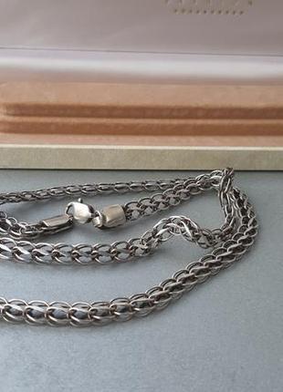 Серебряная цепочка ланцюг 925 пробы 25 грамм 59 см в коробке