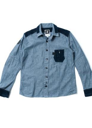 Raw g-star мужская джинсовая рубашка smh010052