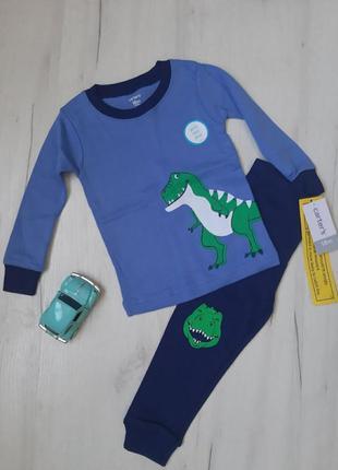 Новая пижама carters с динозавром картерс