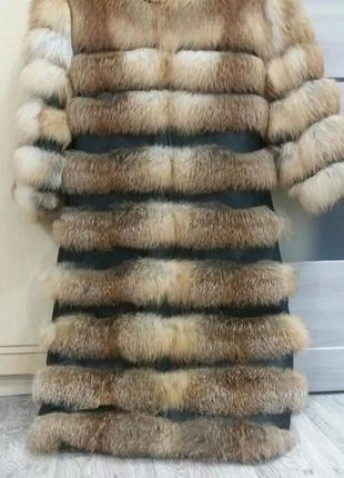 Шуба из лисицы