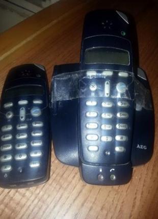 Пара новых радиотелефонов из Германии AEG D 9 Plus Twin Dect
