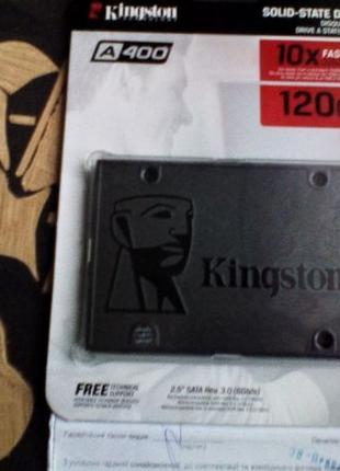 MLC SSD 120 240 GB Kingston A400 Гарантия 3Года ПК Ноутбук вAl...