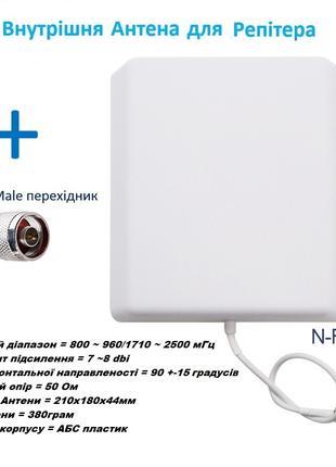 Антенна панельная внутренняя Репитер  усилитель GSM 900 1800 2100