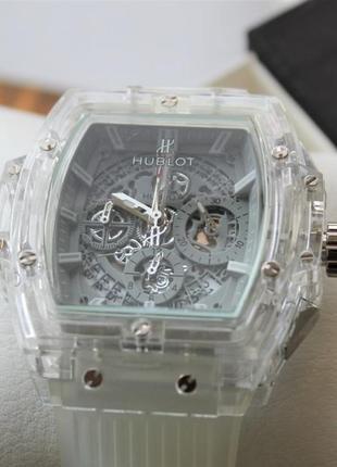 Шикарные мужские наручные часы hublot big bang quartz unico sa...