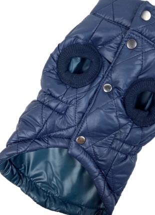 Жилет стеганный синий для собак унисекс синтепон одежда для собак