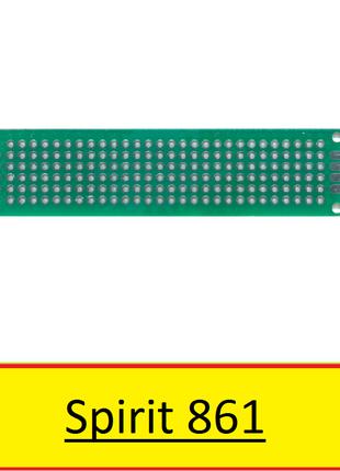 Макетная плата 20x80 мм двухсторонняя шаг 2,54мм