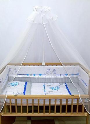 """Защита и набор постели в кроватку новорожденного -""""зоопарк"""""""