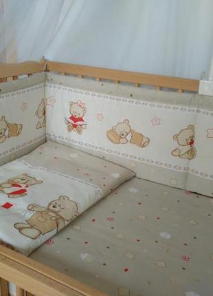 Защита и комплект постели из3 х предметов в кроватку новорожде...