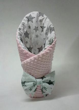 Конверт зимний одеяло плед на выписку новорожденного