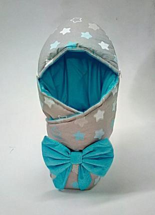 Зимний конверт на выписку, в коляску новорожденного