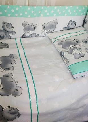 Детское постельное белье в кроватку новорожденного. бортики и ...