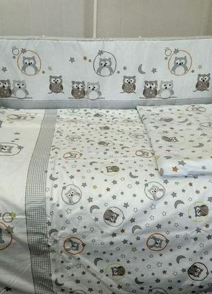 Детское постельное белье в кроватку новорожденного.комплект из...