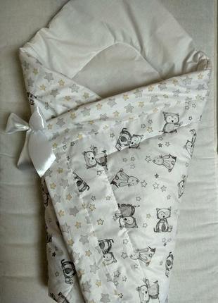 Конверт,одеяло,плед зимний для новорожденного