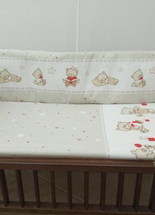 Детское постельное белье в кроватку новорожденного