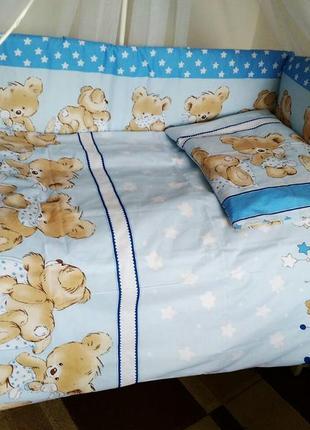 Детское постельное бельё в кроватку новорожденного
