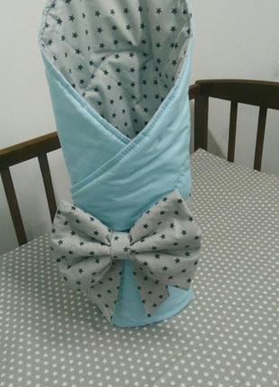 Конверт одеяло плед на выписку новорожденного