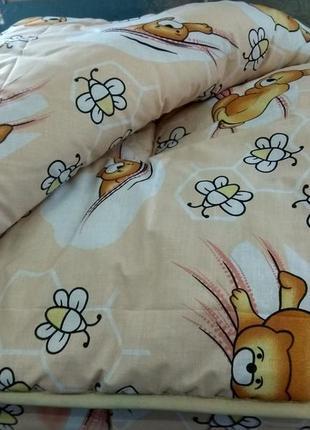 Одеяло из овечьей шерсти детское зимнее шерсть овечья шерстяное