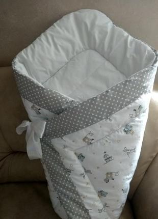 Конверт зимний для новорожденного ребенка