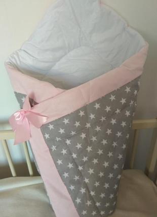 Конверт ― одеяло зимний на выписку новорожденного
