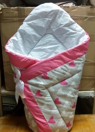 Конверт одеяло зима на выписку новорожденного