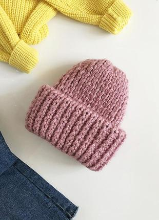 Обалденная объемная шапка крупной вязки hand made (ручная работа)