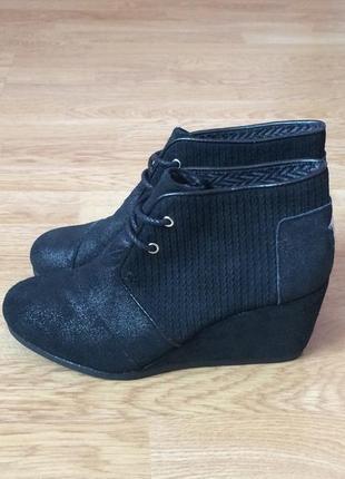 Кожаные ботинки toms сша 36 размера