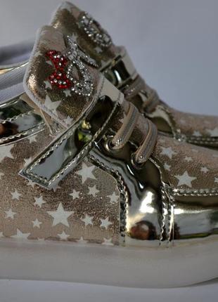 Хайтопы кроссовки с led подсветкой