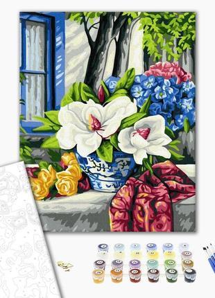 Набор картина по номерам цветы на столе