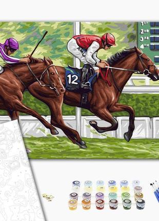 Картина по номерам лошадь и жокей
