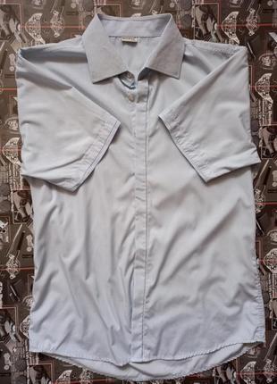 Рубашка без рукавов в мелкую полоску