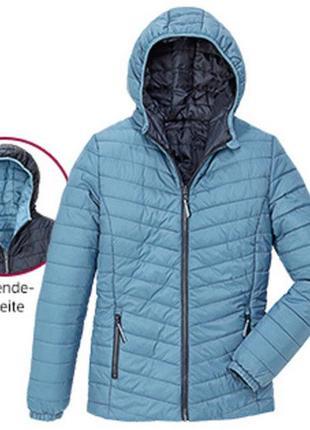 Куртка деми 36 euro (42) двухсторонняя, с капюшоном, crane, ге...