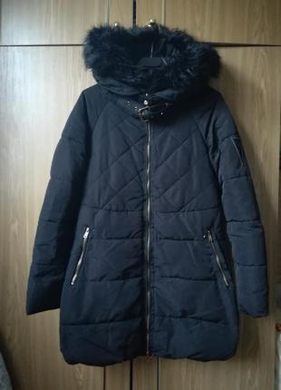 Зимнее пальто парка куртка пуховик zara