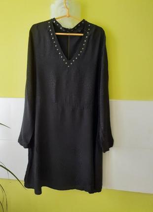 Черное платье с длинным рукавом от next