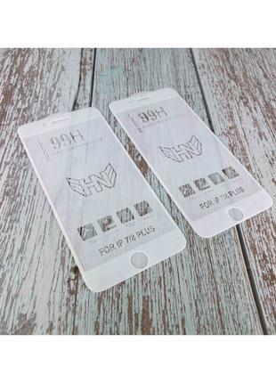 Защитное стекло 99H iPhone 7 Plus/8 Plus - Цвет: Белый