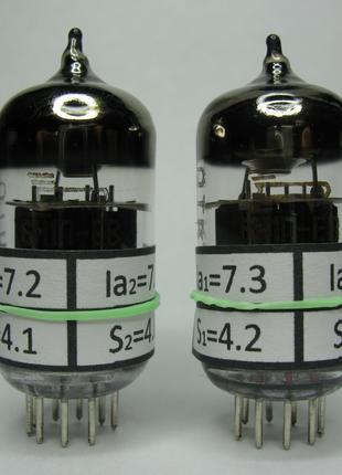 Измеренная и подобранная пара радиоламп 6Н1П-ЕВ Hi-Fi усилителей
