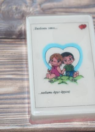 """Натуральное мыло """"Love is"""", рисунок как на картинке, 100 г"""