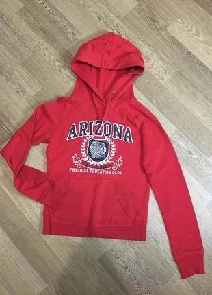 Стильное худи arizona красного цвета