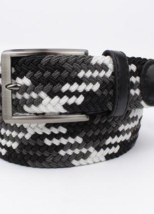 Плетеный ремень резинка alon 4900-106 черный, ширина 35 мм