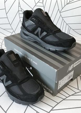 Кроссовки new balance 990v5 triple black, 9,5us, 43eu, 27,5cm