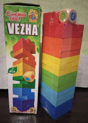 """Настільна гра """"Вежа,"""",дженга"""