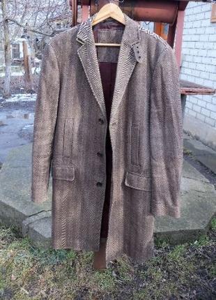 Пальто мужское плащ куртка р 52 Coolwater коричневый