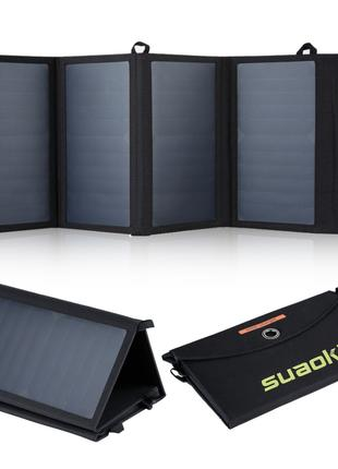 Солнечная панель зарядное устройство Suaoki 25W, 2 USB, 2.1A