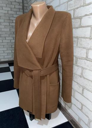 Шикарное женское пальто ангора темный шоколад