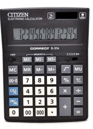 Калькулятор на 14 разрядов 'Citizen' D-314