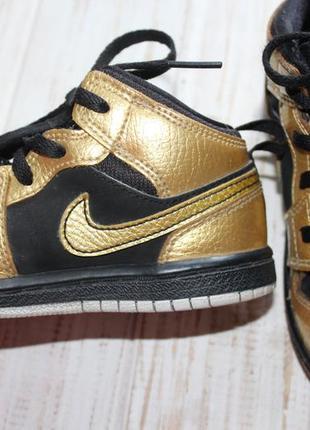 Кожаные кроссовки nike jordan