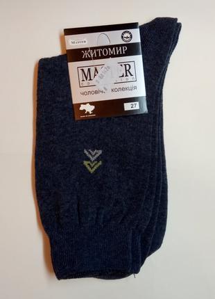 Шкарпетки розмір 27 темно-сірий чоловічі Master Collection