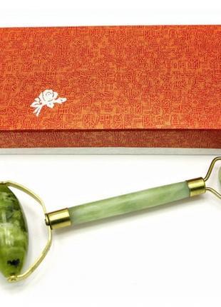 Масажер подвійний валик Нефрит 18,5 см