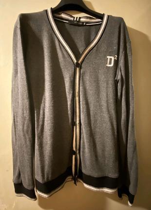 Кардиган Dsquared2 (как новый, серый, размер XL)