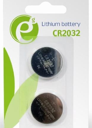 Батарейка CR2032 EnerGenie Lithium EG-BA-CR2032-01 (2 шт)