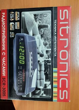 Радиочасы-будильник SITRONICS SCR3005